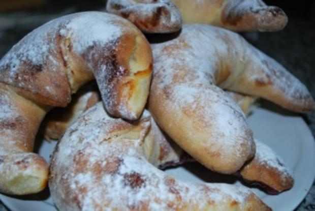 Croissants mit Marzipan und Schoki - Rezept - Bild Nr. 4