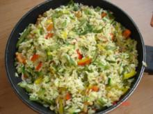 kunterbunte Reispfanne - Rezept