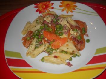 Schweineragou mit Erbsen und Karotten - Rezept