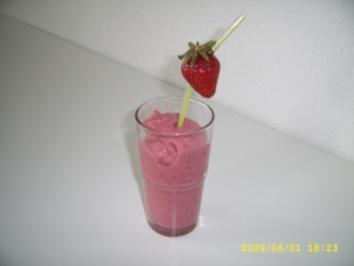 Erdbeer - Kokos - Shake - Rezept