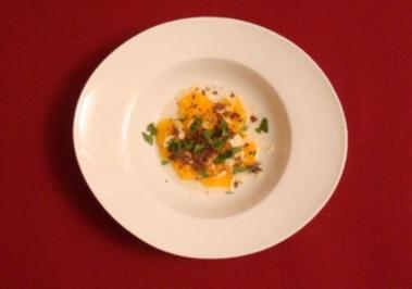 Clementinensalat mit Mandeln und Schokospänen - Rezept