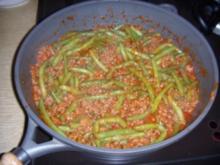 Hackfleischpfanne mit grünen Bohnen - Rezept