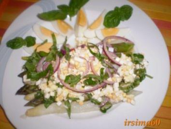Spargelsalat mit Eier - Vinaigrette - Rezept