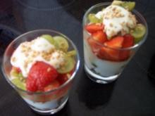 Joghurt-Obst-Mix im Glas - Rezept