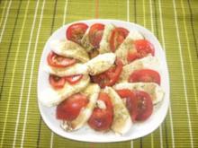 Mozzarella-Brötchen mit Tomate - Rezept