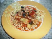 Tomatensoße mit Champignonons - Rezept