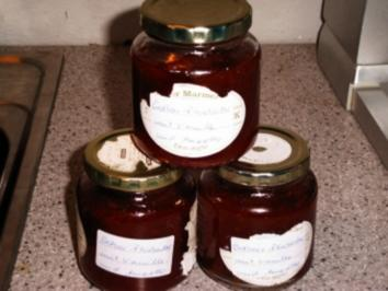 Erdbeer-Rhabarber-Marmelade mit Schwips - Rezept