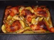 Hühnchenkeule an Rosmarinkartoffel - Rezept