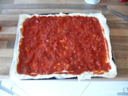 Grüner Spargel Pizza - Rezept