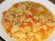 Canja de galinha com batata - Rezept