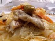 Bacalhau ao Forno-Ofen Kabeljau - Rezept