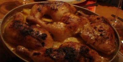 Arabisches Knoblauch-Zitrone-Hähnchen mit Kartoffeln - Rezept