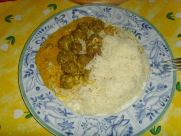 indische hackbällchen m. mango chutney joghurtsoße - Rezept
