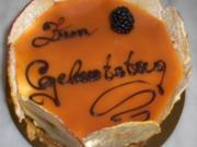 Honig Creme Torte mit Karamel - Rezept