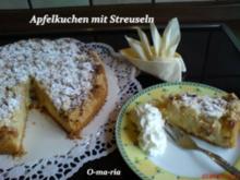 Kuchen  Apfelkuchen mit Streuseln - Rezept