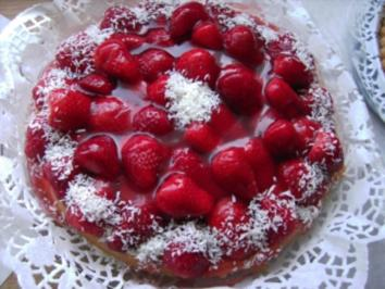 Kokos-Erdbeer-Kuchen - Rezept