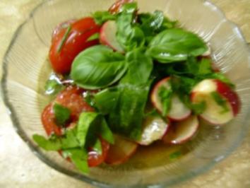Tomaten-Radieschensalat - Rezept