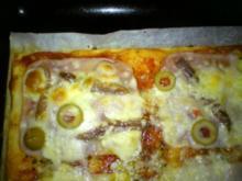 Kreative Pizza die zweite - Rezept
