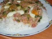 Manu's Eierragout auf Reis - Rezept