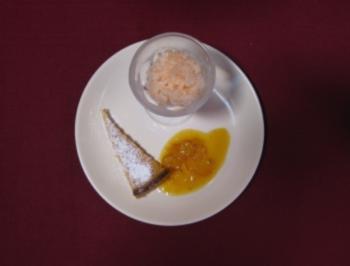 Rezept: Grapefruit-Sorbet und Zitronentarte an Orangensoße