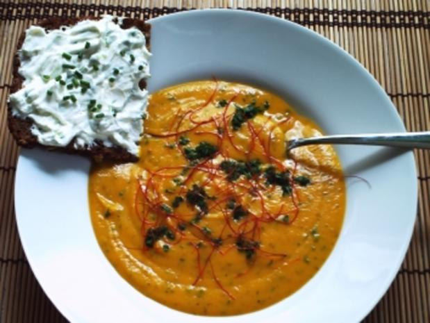 Cremige Süßkartoffelsuppe – indian Style - Rezept