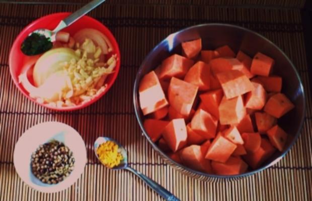 Cremige Süßkartoffelsuppe – indian Style - Rezept - Bild Nr. 3