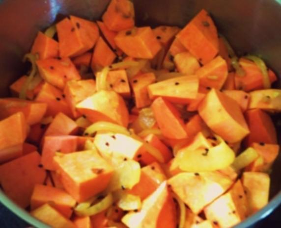 Cremige Süßkartoffelsuppe – indian Style - Rezept - Bild Nr. 7