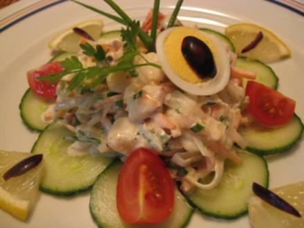 Fischsalat auf französische Art - Rezept