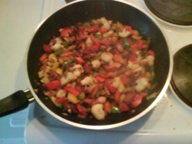 Gemüse: Gemüsepfanne mit Grünkern - Rezept - Bild Nr. 4