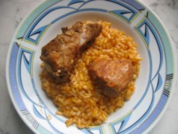 Lammfleisch mit Pilav - Rezept