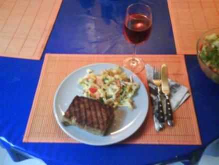 Vegetarisch: Tofu-Steak - Rezept