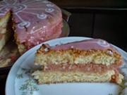 Kuchen  Rosa Punschtorte - Rezept