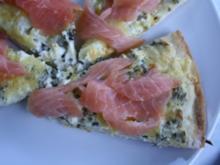 Räucherlachs Pizza - Rezept