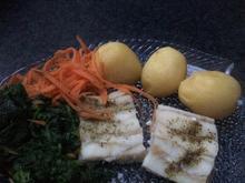 Gedämpftes Fischfilet auf Spinat - Rezept - Bild Nr. 2
