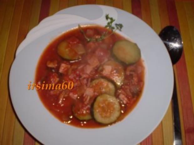 Zucchini mit Tomaten - Rezept