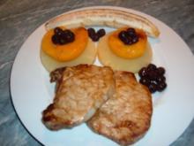 Fleisch  : Koteletts mit Früchten - Rezept