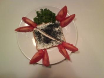Abendbrot: Toast mit Frischkäse und Kaviar - Rezept