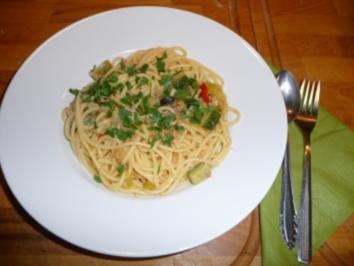 Spaghetti mit Zucchini und Thunfisch - Rezept