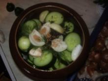 Schnellgurken im Steintopf - Rezept