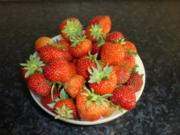 Erdbeerkäse ( Nachspeise mit frischen Erdbeeren ) - Rezept