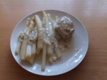 Spargel mit Kräuterfrischkäsesauce - Rezept