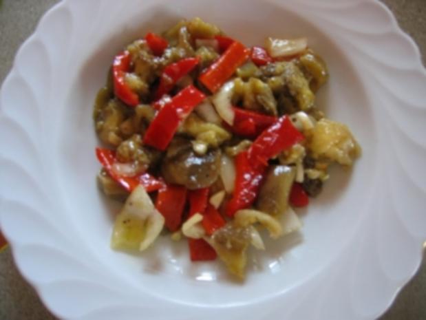 Auberginen-Paprika-Salat - Rezept