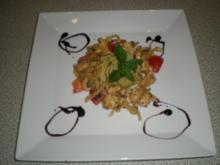 Mailänder Puten Pfanne mit Pesto Spaghetti - Rezept