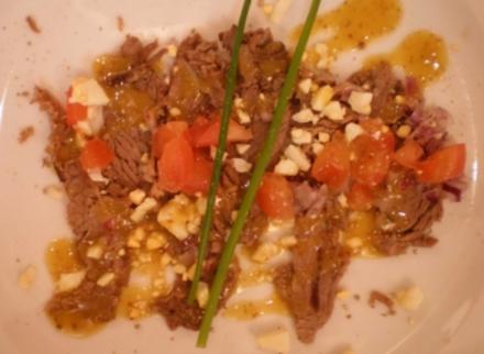 Carpaccio von gekochter Ochsenbrust - Rezept
