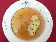 Kraftbrühe mit Butternocken - Rezept