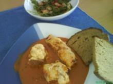 Schinken-Röllchen mit Tomatensauce - Rezept