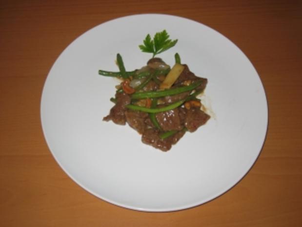 Rindfleisch mit Bohnen - Rezept