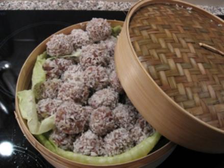 Gefüllte Reisbällchen - Rezept