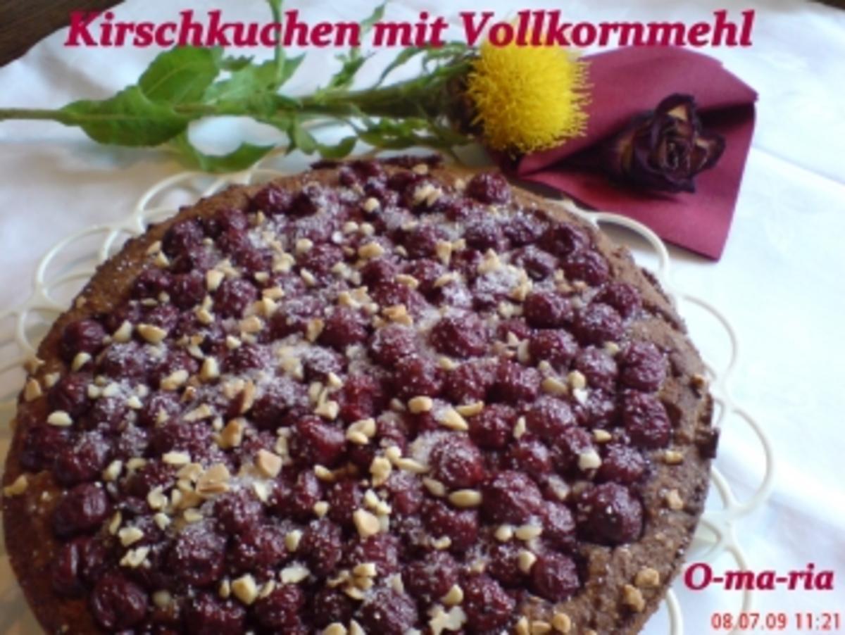 Kuchen Kirschkuchen mit Vollkornmehl