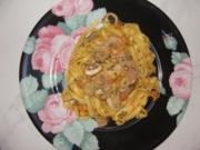 Nudeln : -Gemüse Nudeln in Pilzsoße- - Rezept